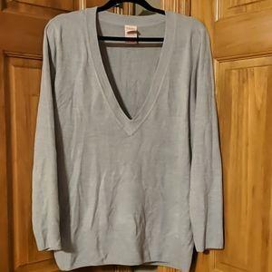 XL Faded Glory Grey V Neck Sweater